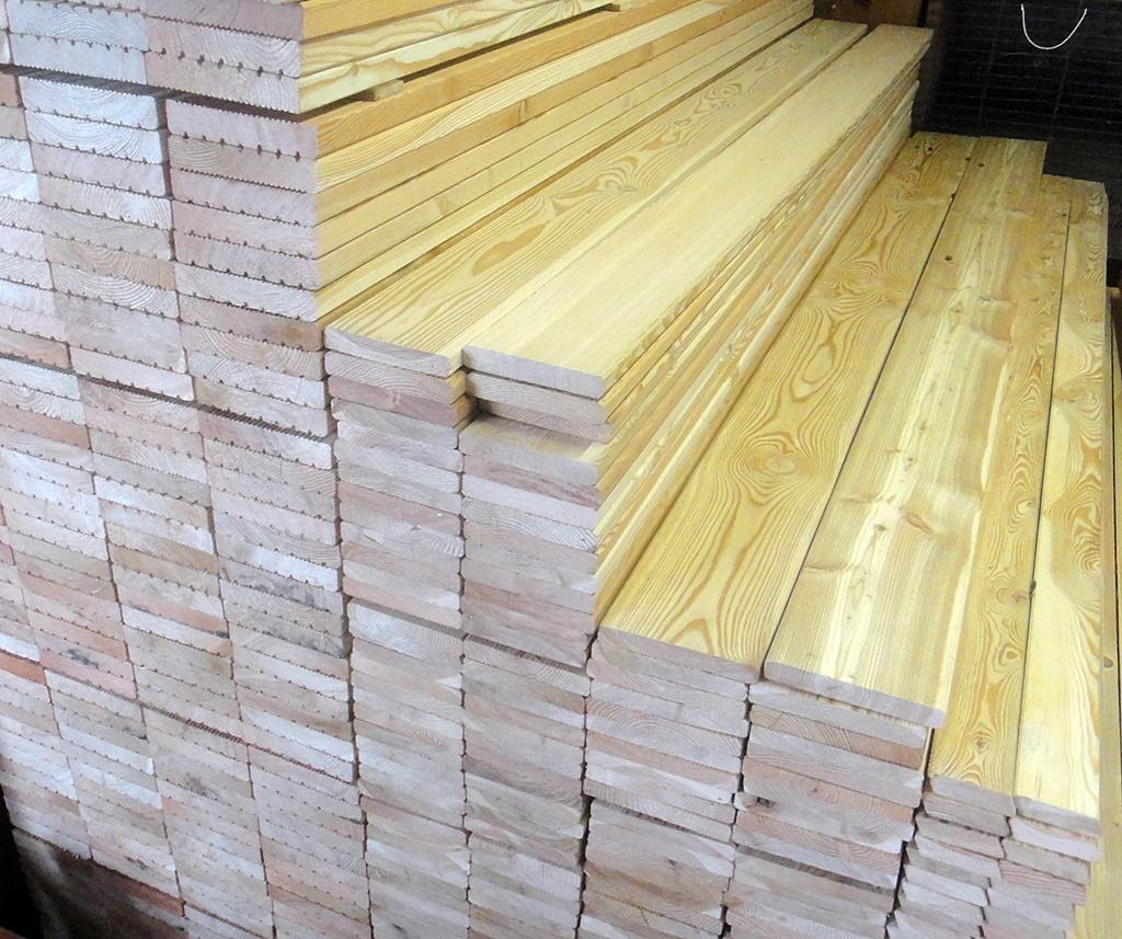 Super Sibirische Lärche Terrassendielen 20x143mm glatt/glatt, 2,90€ lfm UQ31