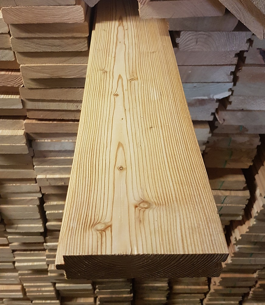 sibirische l rche massivholzdielen 35x118mm 3 50 lfm max 6m nut feder gehobelt und. Black Bedroom Furniture Sets. Home Design Ideas